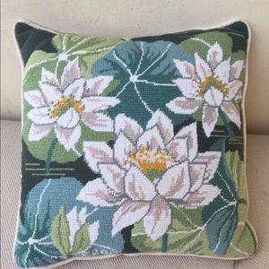 Other - Handsewn Handstitch Floral Decor Home Pillow